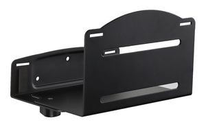 Mount-It Wall Mounted CPU Holder with Securing Straps-CPU Holders-Mount-It-Black-Ergo Standing Desks