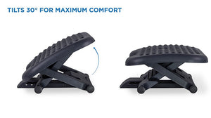 Mount-It Adjustable Height & Angle Ergonomic Foot Rest-Foot Rest-Mount-It-Black-Ergo Standing Desks