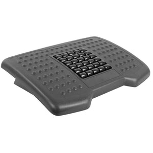 "Mount-It 18"" x 13"" Ergonomic Foot Rest with Massaging Rollers-Foot Rest-Mount-It-Black-Ergo Standing Desks"