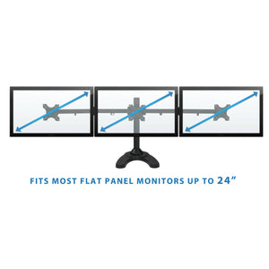 Mount-It Freestanding Full Motion Triple Monitor Desk Stand-Monitor Arms-Mount-It-Black-Ergo Standing Desks