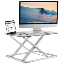 "Load image into Gallery viewer, Mount-It 31"" Wide Height Adjustable Standing Desk Converter- White-Standing Desk Converters-Mount-It-White-Ergo Standing Desks"