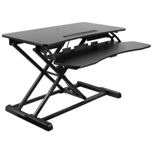 "Mount-It 31.5"" Wide Adjustable Contoured Standing Desk Converter- Black-Standing Desk Converters-Mount-It-Black-Ergo Standing Desks"