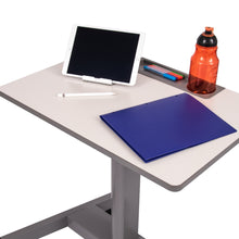 Load image into Gallery viewer, Luxor Pneumatic Adjustable Mobile Student Sit Stand Desk-Student Desks-Luxor-Gray-Ergo Standing Desks