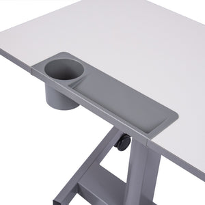 Luxor Pneumatic Adjustable Mobile Student Sit Stand Desk-Student Desks-Luxor-Gray-Ergo Standing Desks