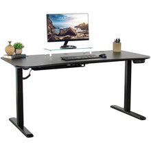 "Load image into Gallery viewer, Vivo 63"" Wide Electric Adjustable Height Standing Desk-Electric Standing Desks-Vivo-Black-Ergo Standing Desks"