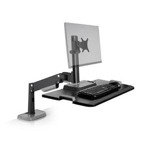 Innovative Winston Lift Edge Mount One Monitor Adjustable Standing Desk Converter-Standing Desk Converters-Innovative-Vista Black-Ergo Standing Desks