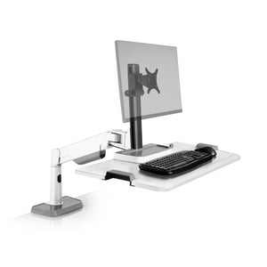 Innovative Winston Lift Edge Mount One Monitor Adjustable Standing Desk Converter-Standing Desk Converters-Innovative-Flat White-Ergo Standing Desks