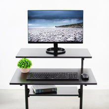 "Load image into Gallery viewer, Vivo 28"" Wide Compact Adjustable Height Mobile Work Desk- Black-Mobile Standing Desks-Vivo-Black-Ergo Standing Desks"