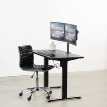 "Load image into Gallery viewer, Vivo 43"" Wide Standard Electric Adjustable Sit Stand Desk- Black Frame-Electric Standing Desks-Vivo-Ergo Standing Desks"