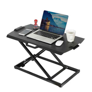 "Eureka Ergonomic 30"" Wide Adjustable Laptop Standing Desktop Converter- Black-Standing Desk Converters-Eureka Ergonomic-Black-Ergo Standing Desks"