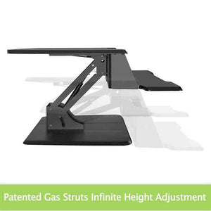 "Eureka Ergonomic 31.5"" Wide Adjustable Height Stand Desk Converter-Standing Desk Converters-Eureka Ergonomic-Ergo Standing Desks"