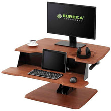 "Load image into Gallery viewer, Eureka Ergonomic 31.5"" Wide Adjustable Height Stand Desk Converter-Standing Desk Converters-Eureka Ergonomic-Ergo Standing Desks"