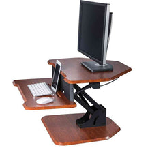 "Load image into Gallery viewer, Eureka Ergonomic 28"" Wide Adjustable Height Corner Standing Desk Converter-Corner Standing Desk-Eureka Ergonomic-Ergo Standing Desks"