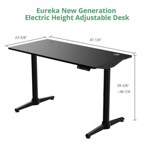 "Eureka Ergonomic 48"" Wide Electric Adjustable Height Standing Desk-Electric Standing Desks-Eureka Ergonomic-Ergo Standing Desks"