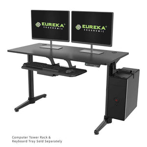 "Eureka Ergonomic 48"" Wide Electric Adjustable Height Standing Desk-Electric Standing Desks-Eureka Ergonomic-Black-Ergo Standing Desks"
