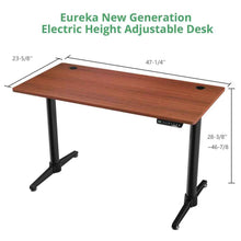 "Load image into Gallery viewer, Eureka Ergonomic 48"" Wide Electric Adjustable Height Standing Desk-Electric Standing Desks-Eureka Ergonomic-Ergo Standing Desks"