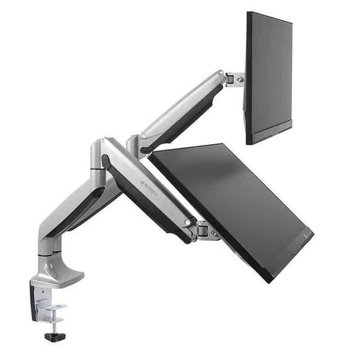 Eureka Ergonomic Dual Desk Mount Full Motion Adjustable Monitor Arms-Monitor Arms-Eureka Ergonomic-Silver-Ergo Standing Desks