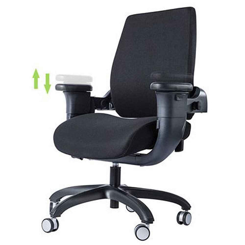 Eureka Ergonomic Mid-Back Desk Swing Chair with Armrests- Black-Ergonomic Chairs-Eureka Ergonomic-Black-Ergo Standing Desks
