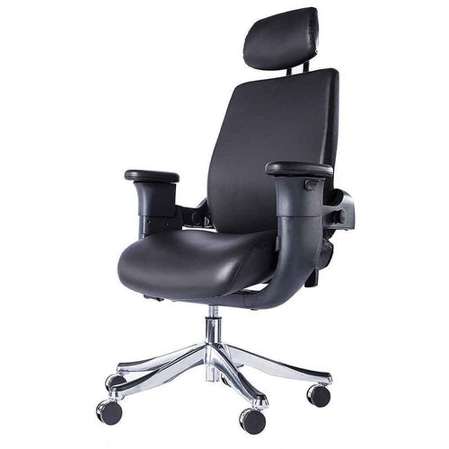 Eureka Ergonomic High-Back Executive Desk Leather Swing Chair with Armrests- Black-Ergonomic Chairs-Eureka Ergonomic-Black-Ergo Standing Desks