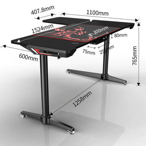 Eureka Ergonomic L60 L-Shaped PC Gaming Desk-Gaming Desks-Eureka Ergonomic-Black-Ergo Standing Desks