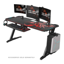 Load image into Gallery viewer, Eureka Ergonomic Z60 Gaming Desk with RGB Lights-Gaming Desks-Eureka Ergonomic-Black-Ergo Standing Desks