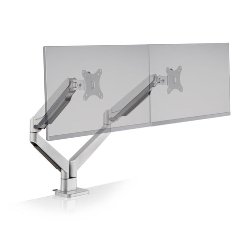Innovative Envoy Articulating Dual Monitor Arm Mount-Monitor Arms-Innovative-Silver-Ergo Standing Desks
