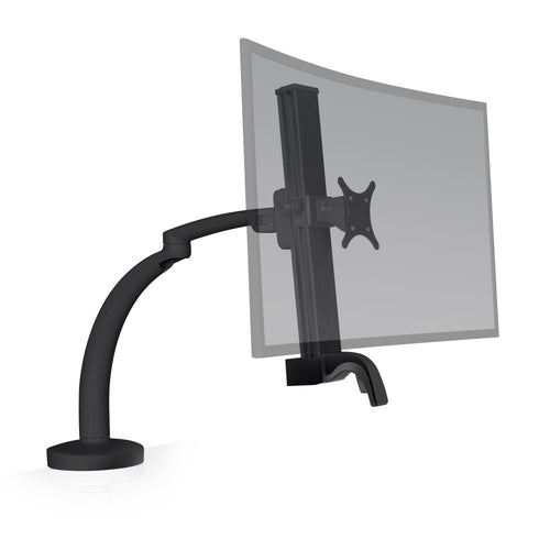 Innovative Ella Next Generation Articulating Single Monitor Arm Mount-Monitor Arms-Innovative-Vista Black-Ergo Standing Desks