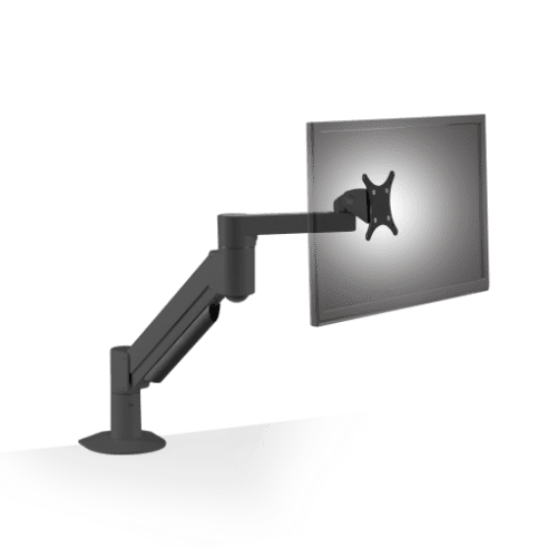 Innovative 7500 Deluxe Single Monitor Arm Mount-Monitor Arms-Innovative-Vista Black-Ergo Standing Desks
