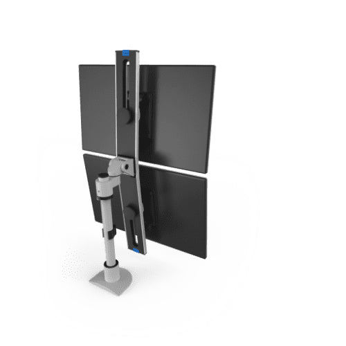 Innovative 9136-S-FM Adjustable Vertical/Horizontal Dual Monitor Pole Mount-Monitor Arms-Innovative-Ergo Standing Desks