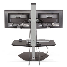 Load image into Gallery viewer, Innovative Winston Workstation Dual Monitor Adjustable Standing Desk Converter-Standing Desk Converters-Innovative-Ergo Standing Desks