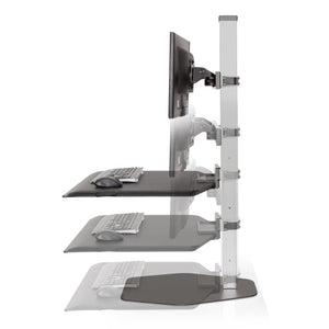 Innovative Winston Workstation Triple Monitor Adjustable Standing Desk Converter-Standing Desk Converters-Innovative-Ergo Standing Desks