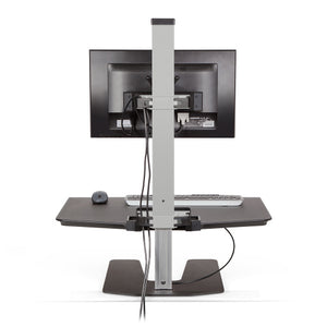 Innovative Winston Workstation Single Monitor Adjustable Standing Desk Converter-Standing Desk Converters-Innovative-Ergo Standing Desks