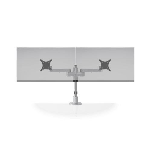 Innovative Staxx Display System Multiple Monitor Mounts- Standard Size-Monitor Arms-Innovative-Silver-2 Wide-Ergo Standing Desks
