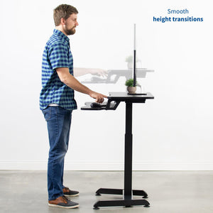 "Vivo 32"" Wide Compact Electric Adjustable Height Standing Desk- Black-Compact Standing Desks-Vivo-Black-Ergo Standing Desks"