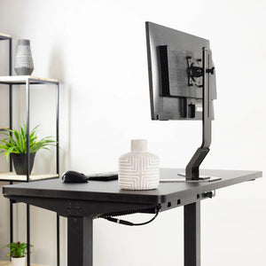 "Vivo 43"" Wide Electric Adjustable Sit Stand Desk with Memory Presets- Black Frame-Electric Standing Desks-Vivo-Ergo Standing Desks"