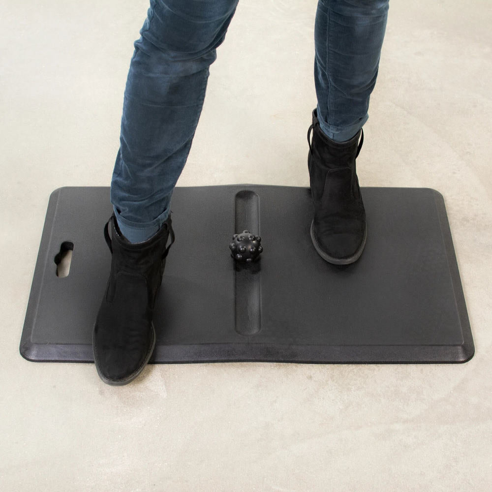 Vivo Memory Foam Standing Desk Floor Mat with Massage Ball-Standing Desk Mat-Vivo-Black-Ergo Standing Desks