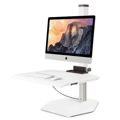 Innovative Winston Apple iMac VESA Single Monitor Adjustable Standing Desk Converter-Standing Desk Converters-Innovative-Flat White-Ergo Standing Desks