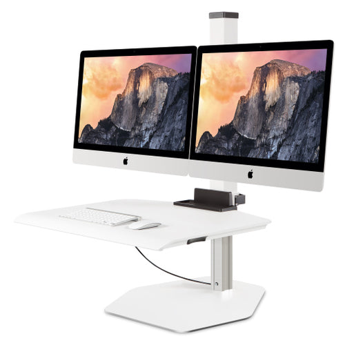 Innovative Winston Apple iMac VESA Dual Monitor Adjustable Standing Desk Converter-Standing Desk Converters-Innovative-Flat White-Ergo Standing Desks