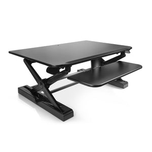 "Innovative Winston 36"" Wide Adjustable Standing Desk Converter- Black-Standing Desk Converters-Innovative-Black-Ergo Standing Desks"