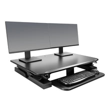 "Load image into Gallery viewer, Innovative Winston 36"" Wide Adjustable Standing Desk Converter- Black-Standing Desk Converters-Innovative-Black-Ergo Standing Desks"