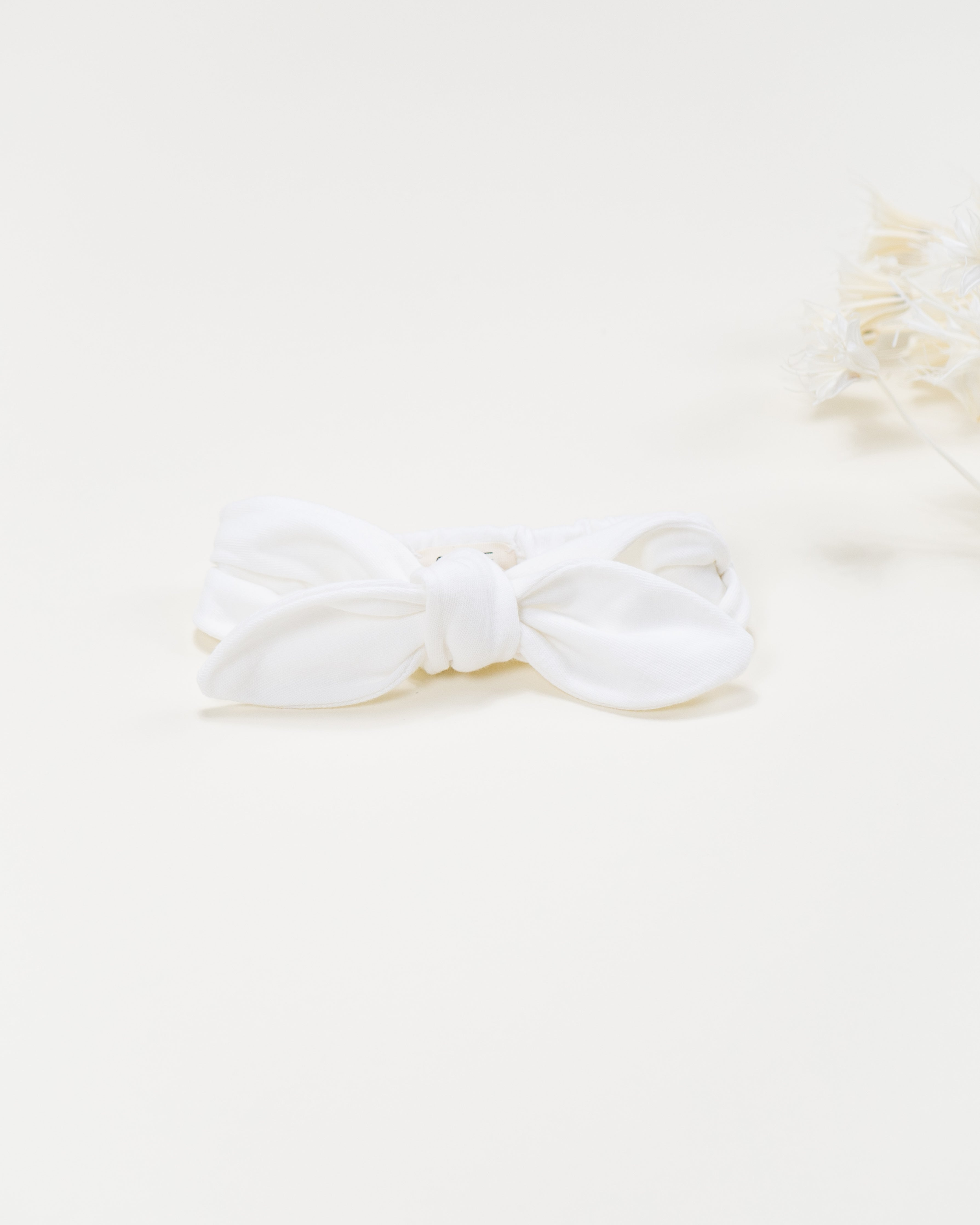 everly knot headband || coconut