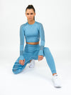 Aphrodite High Waist Seamless Leggings Blue