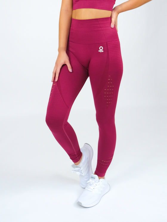 Clio Seamless High Waist Leggings Raspberry