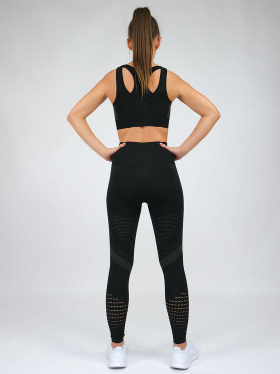 Electra High Waist Seamless Leggings Black