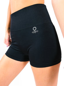 Hera Seamless HIgh Waisted Shorts  with crystal logo