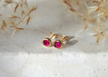 Load image into Gallery viewer, 14k Gold Vega Earrings - Ruby