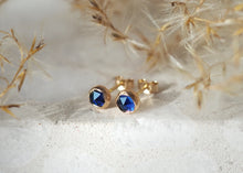 Load image into Gallery viewer, 14k Gold Vega Earrings - Sapphire