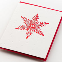 Load image into Gallery viewer, Card Folder Set: Holiday Snowflakes (2 each of 3 designs)