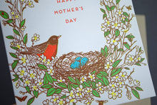 Load image into Gallery viewer, Card: Mother's Day Robin Bird Nest