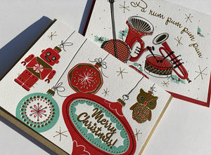 Holiday Card: Instruments Retro